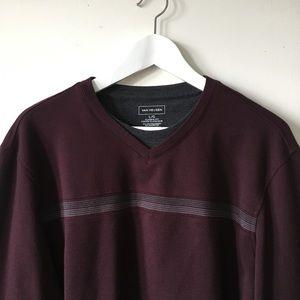 Vintage Sweaters - vintage Plum Purple Oversized Cropped Sweater